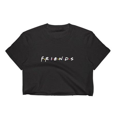 Friends Logo Crop Top T-Shirt Women's S-2XL | Etsy