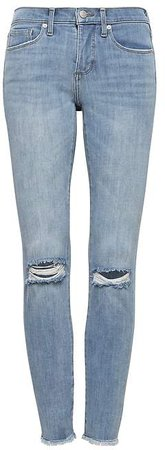 Petite Skinny Zero Gravity Light Wash Ankle Jean