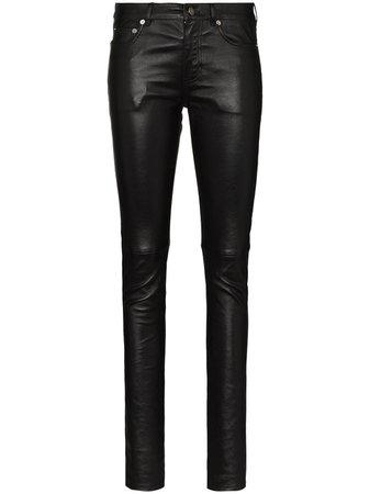 Saint Laurent, Leather Skinny Trousers