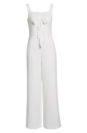 Julia Jordan Sleeveless Tie Neck Wide Leg Jumpsuit | Nordstrom