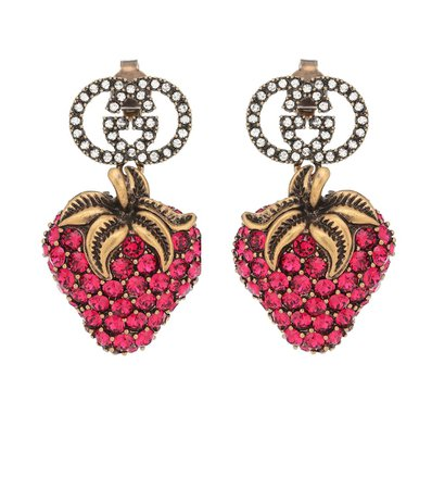 Strawberry Crystal Earrings | Gucci - Mytheresa