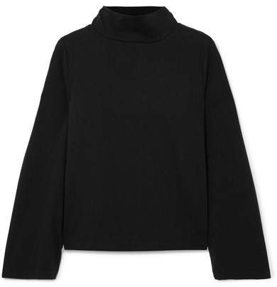 Oliver Cotton-jersey Turtleneck Top - Black