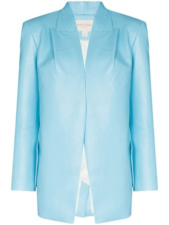 Matériel Blazer Con Solapa Con Costuras - Farfetch