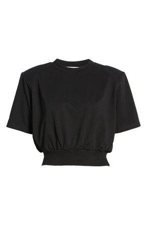 ASTR the Label Volume Shoulder Crop T-Shirt   Nordstrom
