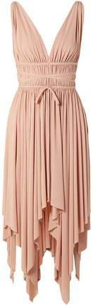 Goddess Ruched Stretch-jersey Dress