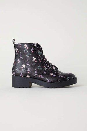 Patterned chukka boots - Black