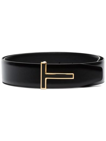 Tom Ford Black Reversible Leather Belt Ss20 | Farfetch.com