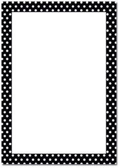 (22) Pinterest - Polka Dot B/W Page Border | FRAMES/BORDERS