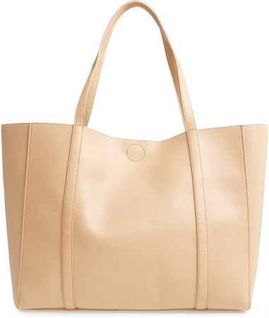 Faux Leather Essential Tote