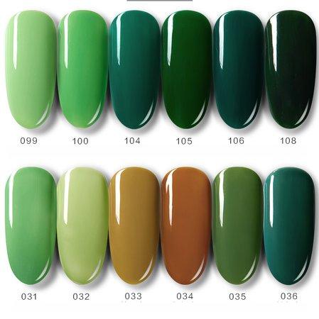 green nail polish colors - Google Search