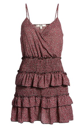 Row A Sleeveless Smocked Tiered Minidress | Nordstrom