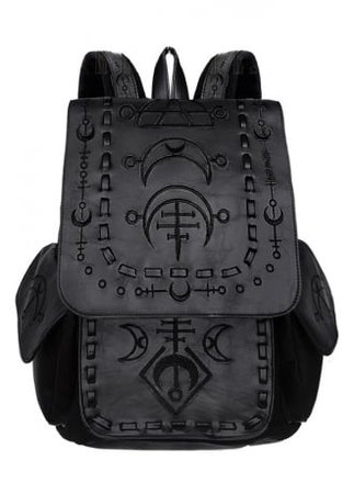 RESTYLE Runic Moon Black Gothic Backpack