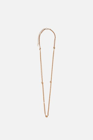 NECKLACE WITH KNOTS - Jewellery-ACCESSORIES-WOMAN-SALE | ZARA New Zealand