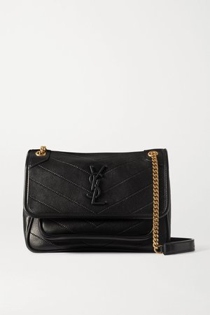 Black Niki mini quilted leather shoulder bag | SAINT LAURENT | NET-A-PORTER