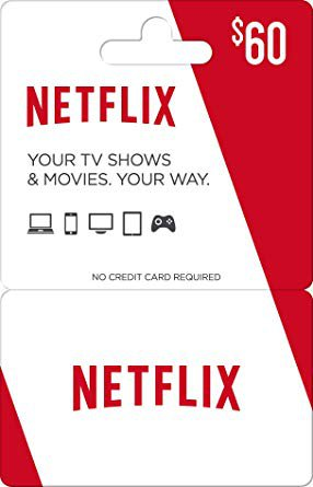 Amazon.com: Netflix Gift Card $60: Gift Cards