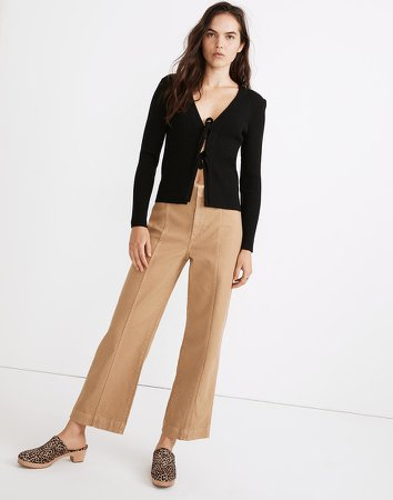 Slim Emmett Wide-Leg Pants: Seamed Edition