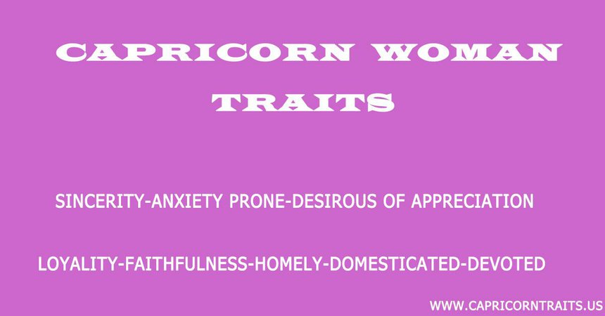 traits for capricorn females - Google Search