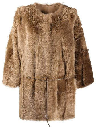 Yves Salomon, tie-wais Fur Coat