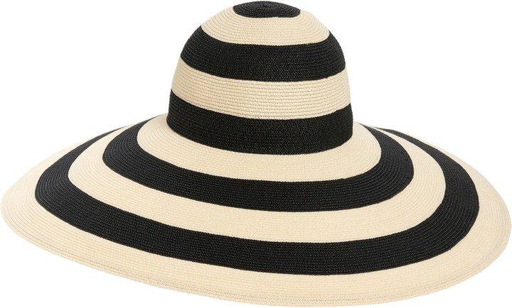 Sunny Stripe Woven Wide Brim Sun Hat