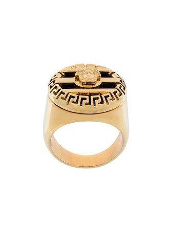 Versace 3D Greek Key Medusa Ring - Farfetch