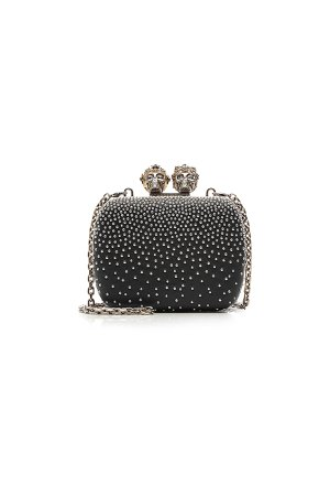 Queen and King Skull Box Clutch Gr. One Size