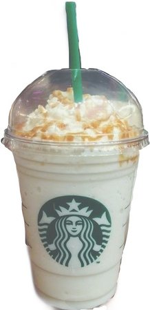 Vanilla bean frappe with caramel