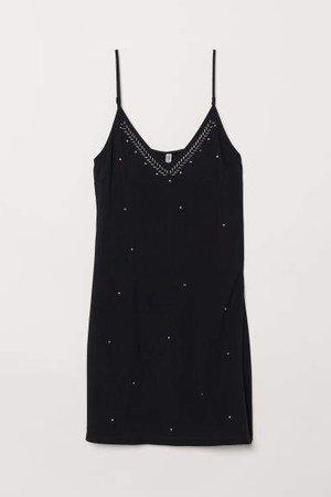 Slip-style Dress - Black