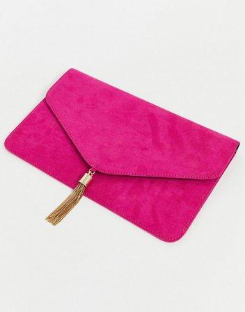 Bolso clutch con borlas de ASOS DESIGN | ASOS