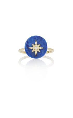 Noush Jewelry Coexist Northstar On Lapis Lazuli Ring
