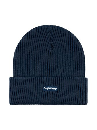 Shop blue Supreme Wide Rib beanie hat with Express Delivery - Farfetch