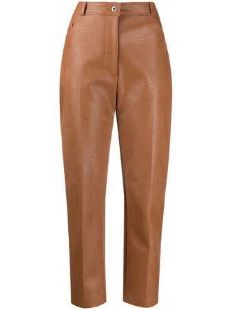 Stella McCartney Hayley faux-leather Trousers - Farfetch