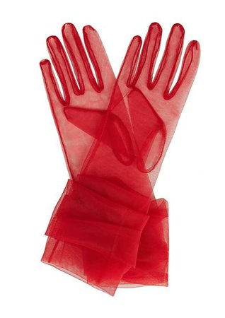 chiffon tulle gloves