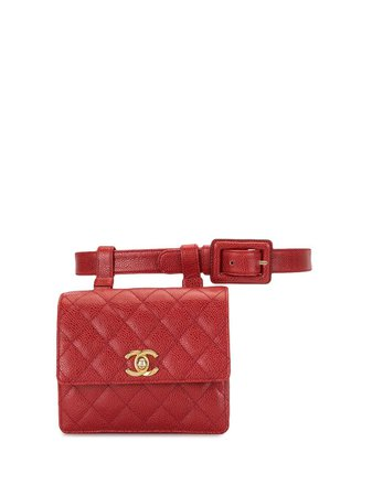 Chanel Pre-Owned 1990 Quilted CC Belt Bag - Farfetch