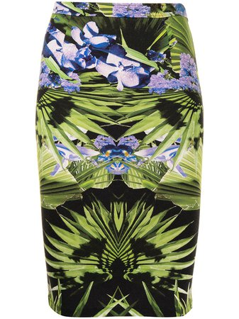Givenchy Pre-Owned Floral Print Pencil Skirt - Farfetch