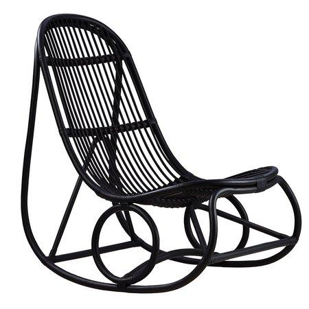 Sika-Design Nanny rocking chair, black | Finnish Design Shop
