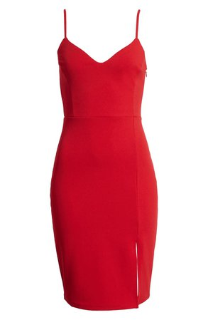 Leith Body-Con Dress (Regular & Plus Size) red