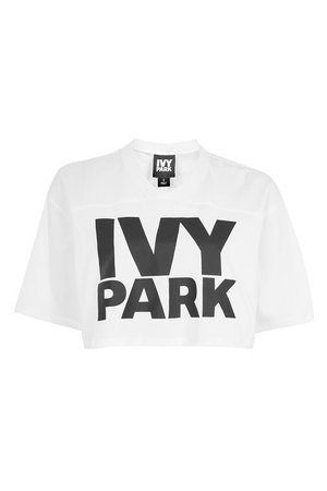 White Graphic Crop To - Ivy Park