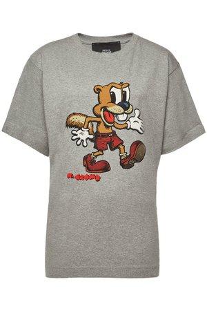 Marc Jacobs - Printed Cotton T-Shirt - grey