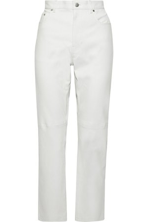 Off-white Kemp leather straight-leg pants | Sale up to 70% off | THE OUTNET | JOSEPH | THE OUTNET