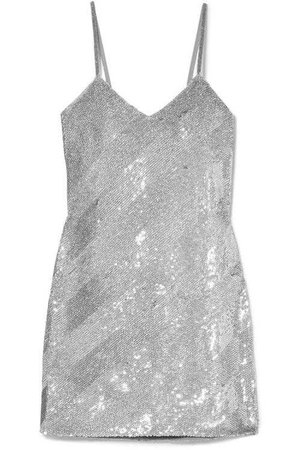 Ashish Silk And Sequin Georgette Dress