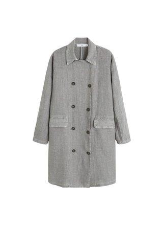 MANGO Buttons linen-blend jacket