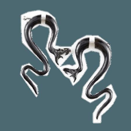 Snake Double Sided Earrings