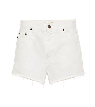 High-rise enim shorts
