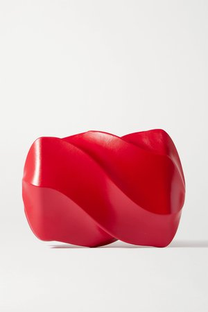 Red Candy leather clutch | Bottega Veneta | NET-A-PORTER