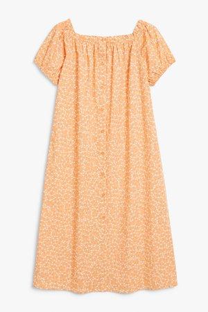 Maxi smock dress - Burnt orange - Maxi dresses - Monki WW