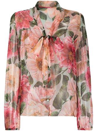 Dolce & Gabbana floral-print Silk Blouse - Farfetch