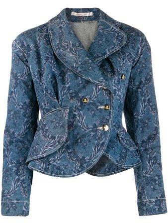 Vivienne Westwood Vintage Veste En Jean à Fleurs - Farfetch