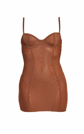 *clipped by @luci-her* Shapewear Power Underwired Control Slip Dress   PrettyLittleThing USA