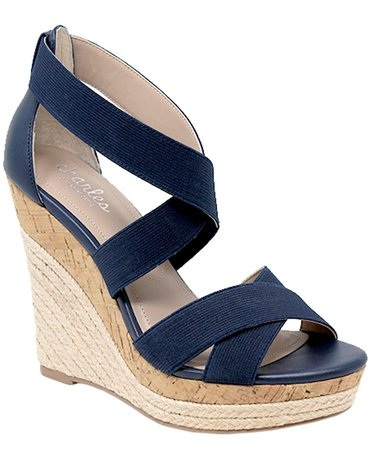 CHARLES by Charles David Azures Wedge Sandals & Reviews - Sandals - Shoes - Macy's