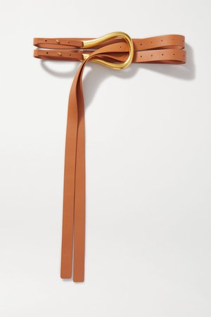 Camel Leather belt | Bottega Veneta | NET-A-PORTER